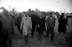Harry Benson, Martin Luther King Jr. and John Lewis at Meredith March, Mississippi, 1966