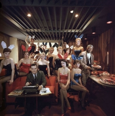 Slim Aarons, Hugh Hefner and 'bunny girls' at the Playboy Key Club in Chicago, 1960