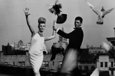 Bert Stern, Rooftops: Dress by Ceil Chapman and collar by Lilly Dache, VOGUE, 1962