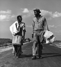 Andre de Dienes, Pride and Poverty, Cotton Pickers, Mississippi 1943