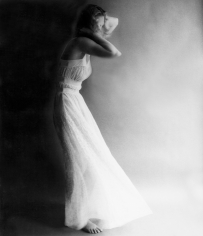 Lillian Bassman Pink Looks Beautiful Overnight, unknown model, nightgown by Van Raalte, 1954