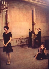 Deborah Turbeville, Krakow: Twin Brothers and Two Girls in theater costumes, W Magazine, Cantor Theater, Poland, 1997