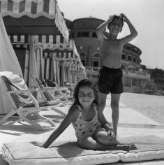 Slim Aarons, Christina and Alexander Onassis at Monte Carlo Beach Club, 1958