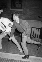 Ron Galella Sean Penn throwing a punch at photographer Vinnie Zuffante, New York, 1986