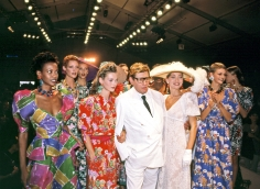 Harry Benson, Yves St. Laurent with Kate Moss and Models, Paris, 1993