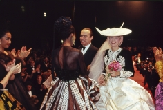 Harry Benson, Christian Lacroix with Models, New York, 1987