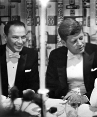 Phil Stern, Sinatra and JFK at the Inaugural Gala, January 1960