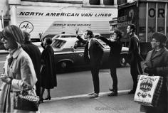 Daniel Kramer, Bob Dylan, Peter Yarrow, and John Hammond Jr. Hailing Cab, New York, 1965