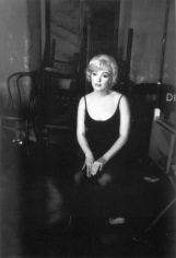 """Bob Willoughby, Marilyn Monroe lost in her own thoughts on the set of """"Let's Make Love"""", 1960"""