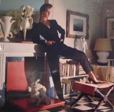 Horst,  Brooke Shields in Diane von Furstenburg at Horst's house, 1984
