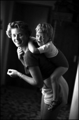 David Seymour, Ingrid Bergman with Her Son Robertino, Rome, Italy 1952