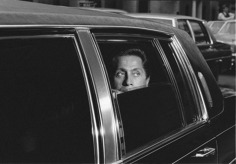 Harry Benson Valentino in Limo, New York, 1984