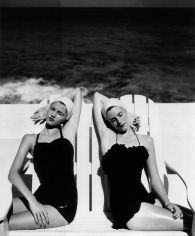 Louise Dahl-Wolfe, Twins at the Beach, 1955