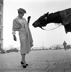 Frank Horvat, Woman with Horse, Florence, 1950