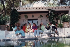 Slim Aarons, The Rothschild Family on the Terrace of Their Home, Santa Margarita, Spain, 1980