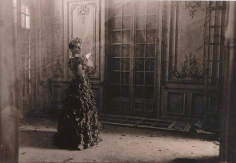 Deborah Turbeville,  Charlotte Pelle in Paco Rabanne in an abandoned chateau near Deauville, France, 1985