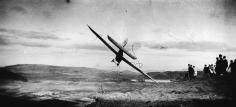"""Jacques-Henri Lartigue, Gliding Competition: Pitot on the """"Levasseur-Abrial Monoplane,"""" Combegrasse, 1922"""