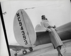 Herbert Matter, Model with Airplane