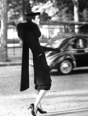 Henry Clarke  Anne Saint-Marie in Balenciaga, Paris, 1955