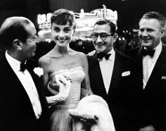 Phil Stern, Cole Porter, Audrey Hepburn, Irving Berlin, and Don Hartman, 1950s