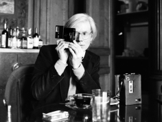 Harry Benson, Andy Warhol at The Factory, New York, 1977