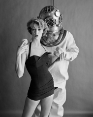 William Helburn, Jean Patchett and Hard Hat Diver, Cole of California, 1954