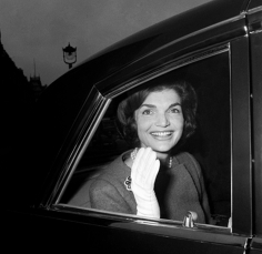 Harry Benson Jackie Kennedy in Car, London, 1962