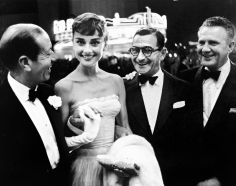 Phil Stern, Cole Porter, Audrey Hepburn, Irving Berlin and unidentified, early 1950s