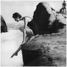 Tom Palumbo, Anne St. Marie on California Coast, Harper's Bazaar, November 1954