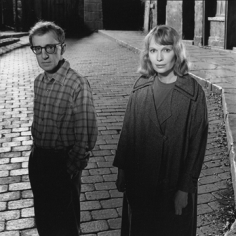 Mary Ellen Mark, Woody Allen and Mia Farrow on the set of Shadows and Fog, Kaufman Astoria Studios, New York, 1991