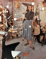 Genevieve Naylor, Model in Calder's Studio, 1948