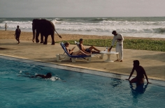 Steve McCurry, Tourists Lounge Poolside, Sri Lanka, 1995 ​