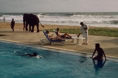 Steve McCurry, Tourists Lounge Poolside, Sri Lanka, 1995 