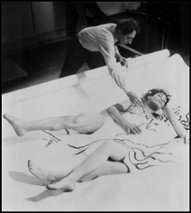 Philippe Halsman Jean Cocteau's Painting Comes to Life, 1949