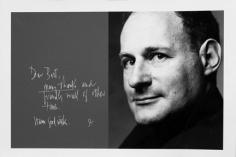Bert Stern, Irving Penn and his note in Bert Stern's studio guest book, 1960s