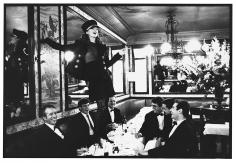 Arthur Elgort, Kate Moss at Cafe Lipp, Paris, VOGUE Italia, 1993
