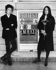 Daniel Kramer, Bob Dylan and Joan Baez with Protest Sign, Newark, New Jersey, 1964