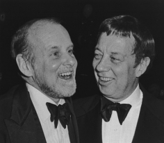 Deborah Turbeville, Bob Fosse and Cy Coleman, Waldorf Astoria Hotel, New York, 1985