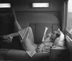 Lillian Bassman Southwest Passage-Sunset Pink, model unknown, pajamas by Kicker nick, 1951