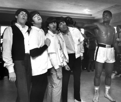 Harry Benson, The Beatles and Muhammad Ali (Cassius Clay), 5th Street Gym, Miami, Florida, 1964