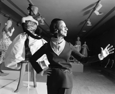 Harry Benson, Diana Vreeland and mannequin in Balenciaga at the Costume Institute at the Metropolitan Museum of Art, New York, 1973