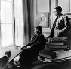 Horst P. Horst, Carl Erickson drawing Gertrude Stein and Horst, Paris, 1946