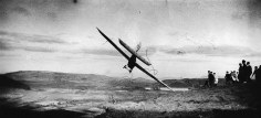 "Jacques-Henri Lartigue, Gliding Competition: Pilot in the ""Levasseur-Abrial Monoplane,"" Combegrasse, 1922"
