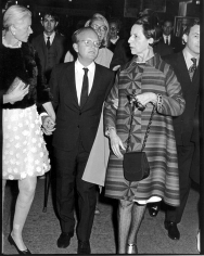 "Ron Galella, C.Z. Guest, Truman Capote, and Diana Vreeland, ""Trilogy"" Premiere at the Arts Theater, New York, 1968"