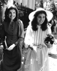Ron Galella, Jackie Onassis and Caroline Kennedy at the Wedding of Courtney Kennedy and Jeff Rhue, Holy Trinity Church, Washington, DC, 1980
