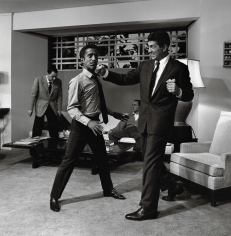 Sid Avery, Sammy Davis Jr., and Dean Martin,1960