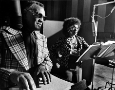 "Phil Stern Ray Charles & Cleo Laine Recording ""Porgy and Bess"", 1975"