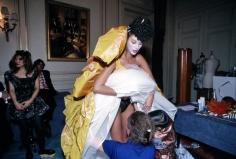 Harry Benson, Christy Turlington in Vivienne Westwood, Paris, 1993