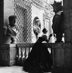 Genevieve Naylor, Dorian Leigh in Simoneta Visconti, Rome, Harper's Bazaar,1953