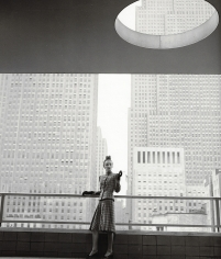 Louise Dahl-Wolfe, Rita Touhy on Balcony of the MoMA, 1940
